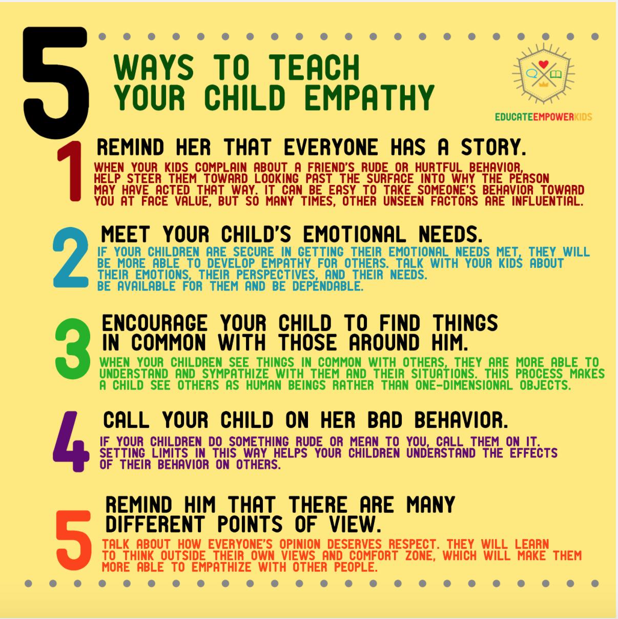 Five Ways to Teach Your Child Empathy