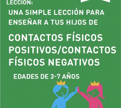 UNA SIMPLE LECCIÓN PARA ENSEÑAR A TUS HIJOS DE CONTACTOS FÍSICOS POSITIVOS/CONTACTOS FÍSICOS NEGATIVOS